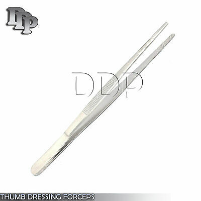 Surgical Dressing Tweezer Tissue Thumb Forceps Serrated Tip Medical Instruments