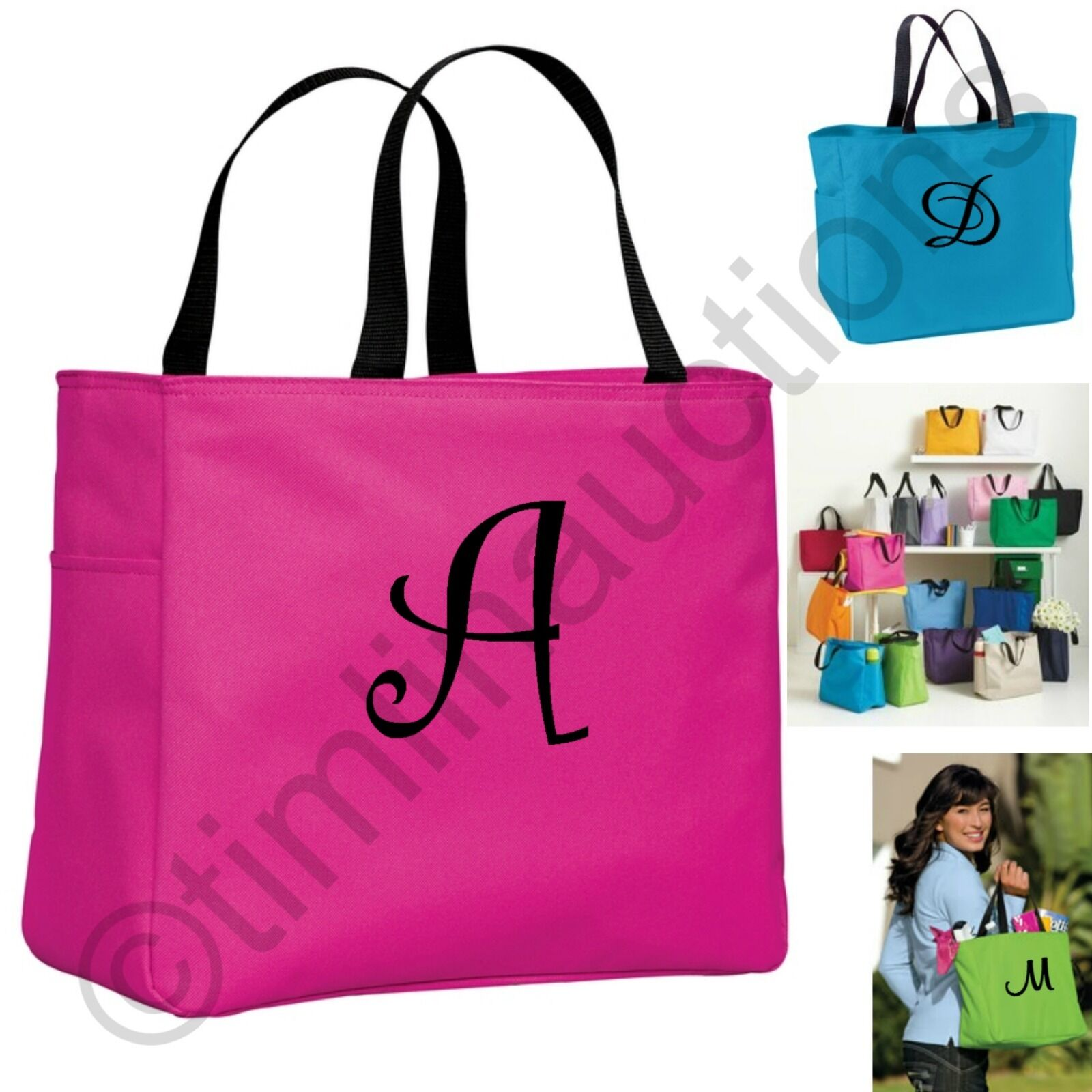 7bd88214c7 Details about Personalized Tote Bags Monogram Gift Ideas for Teachers  Coaches Appreciation