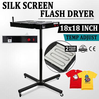 18 X 18 Flash Dryer Silk Screen Printing Equipment T-shirt Drying Diy Prints
