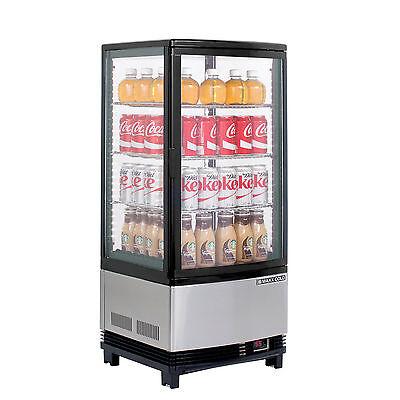 New Maxx Cold Mecr-31d Reach In Countertop Refrigerator Glass Door Merchandiser