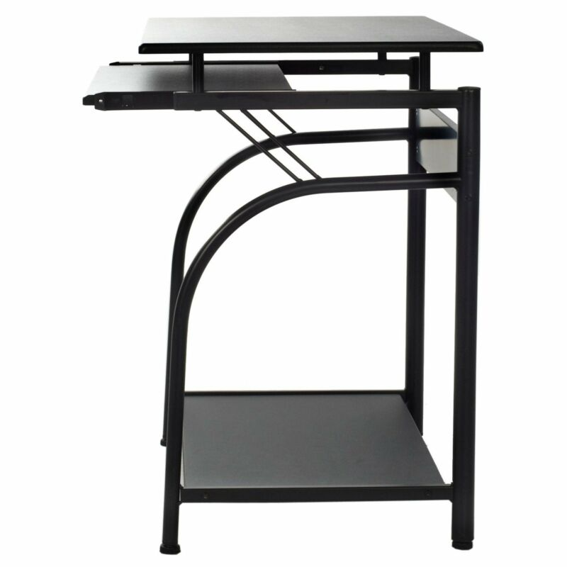 50-1001 Stanton Computer Desk with pullout keyboard tray Black Small