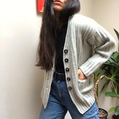 iris von arnim Caridgan Wool Cashmere Size Medium Cream Beige White