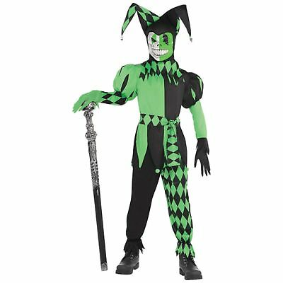 Wicked Jester Halloween Horror Scary Boys Kids Childs Teens Fancy Dress Costume