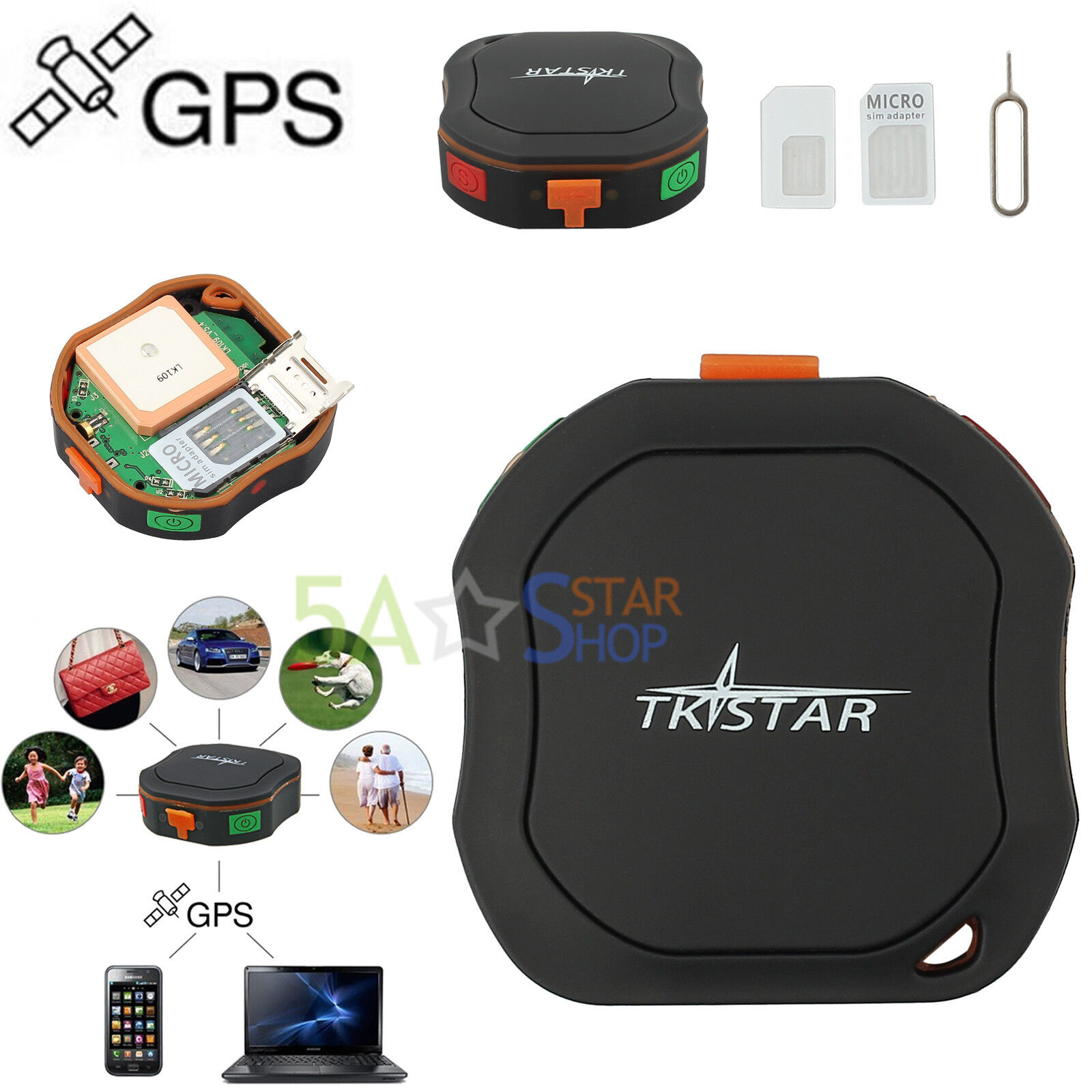 gsm gps tracker peilsender sms sender gprs a gps sos alarm. Black Bedroom Furniture Sets. Home Design Ideas