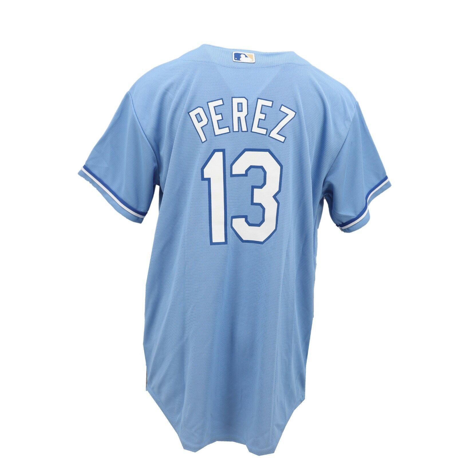 meet 05253 d04e6 Details about Majestic Cool Base Kansas City Royals MLB Kids Youth Size  Salvador Perez Jersey