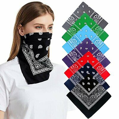 100% Cotton Bandana Scarves Paisley Head Face Mask Wrap Scarf Clothing, Shoes & Accessories
