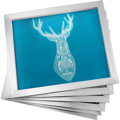 6 Pack 16x20 Aluminum Frame Silk Screen Printing Screens With 110 Mesh