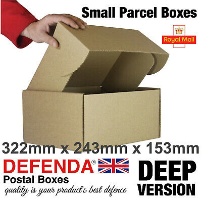 140 Royal Mail MAXI DEEP SMALL PARCEL BOXES PiP Postal Mailing 322mm 243mm 153mm