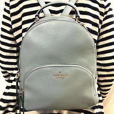 NWT KATE SPADE PEBBLED LEATHER JACKSON MEDIUM BACKPACK BAG SEASIDE