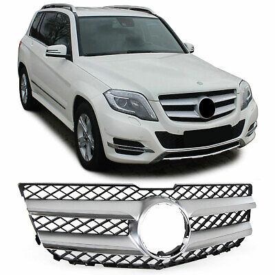 Sport Kühlergrill Frontgrill Silber Chrom für Mercedes GLK X204 Facelift 12-15
