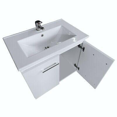 Schöner Badchrank mit Waschbecken Weiß 60 Badmöbel Hängeschrank Unterschrank