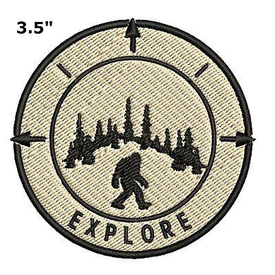 4fb512b09 Bigfoot Lives Patch - Sasquatch in the Forest (Iron on) I BELIEVE Sasquatch