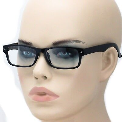 Mens Geeky Nerd Thick Plastic Frame Rectangular Horn Rim Fashion Eye Glasses (Thick Rimmed Eyeglasses)