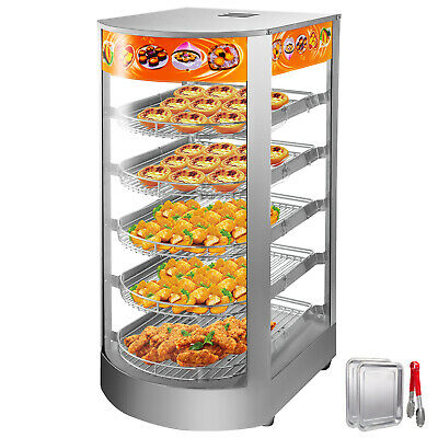 Commercial Food Warmer Court Heat Food Pizza Display Warmer Cabinet 14 Glass 5t