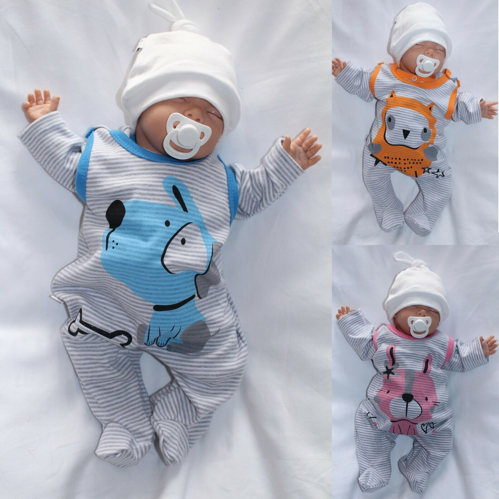 Babyset Sommer T-shirt Grün Rosa 3tlg Mädchen 62 68 74 80 Starterset Baumwolle Baby & Toddler Clothing