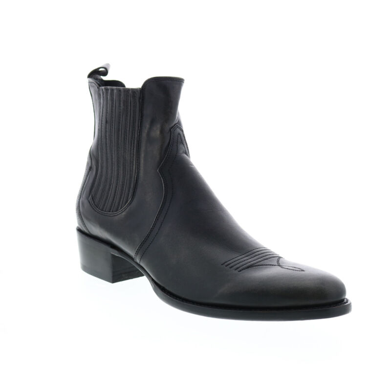 Frye Grady Chelsea 80889 Mens Gray Leather Slip On Western Boots