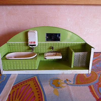 "antike Puppenstube ""Badezimmer"" , Blech"