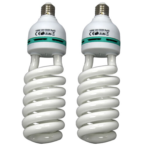 Qty2 105w 5500K Continuous Lighting Bulb Fluorescent Day-light Photo Studio Lamp