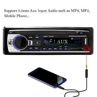 Bluetooth Car Stereo Audio In-Dash FM Aux Input Receiver SD USB MP3 Radio Player 4