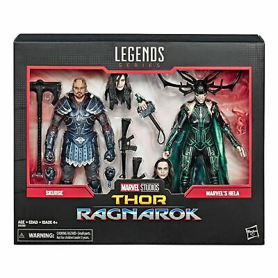 Marvel Legends Skurge and Hela Figures Thor Ragnarok Two Pack New And Sealed