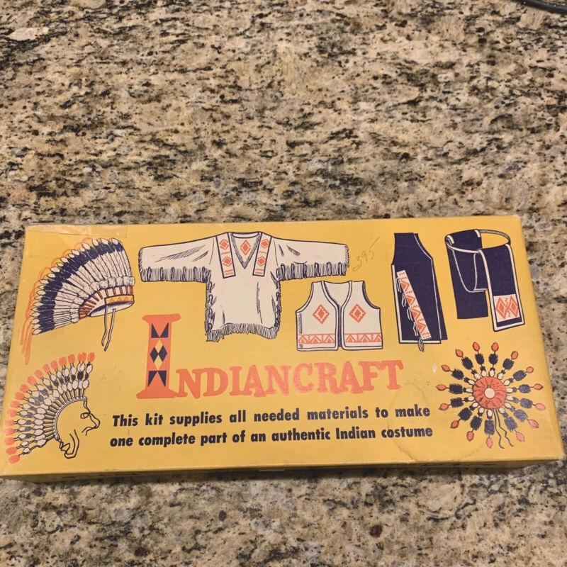 1960's Vintage Boy Scouts of America Indiancraft Set Headdress Kit