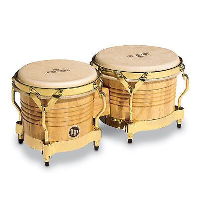 - Latin Percussion LP Matador Wood Bongos Natural Gold Hardware