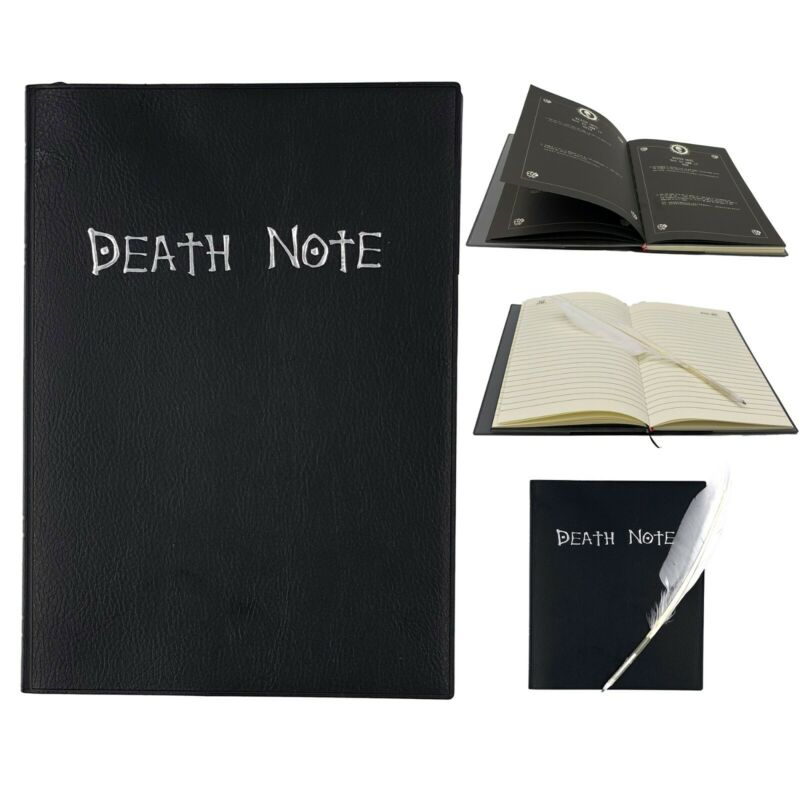 Goldenvalueable Anime Death Note Cosplay Notebook with Feather Pen and Bookmark