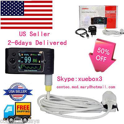 Usa Contec Handheld Tft Finger Pulse Oximeter Spo2 Oximetry 24hours Usb Cms-60c