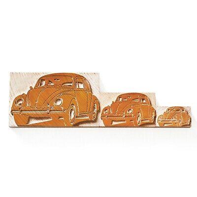 Letterpress Set Vw Beetle Lemon - Wood Type 3 Pieces