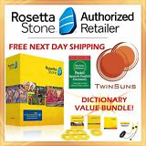 Rosetta Stone® LEARN SPANISH FULL 1 2 3 4 5 CD SET + DOWNLOAD +BONUS DICTIONARY!