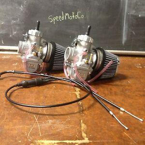 Honda cm400 cm450 cb400 cb450 30mm Carb Carburetor Kit Cables vm30 mikuni