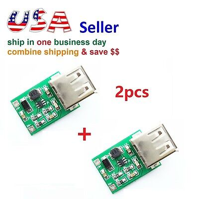 2pcs Dc 3v To 5v Usb Output Charger Step Up Power Module Dc-dc Boost Converter