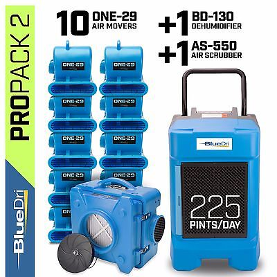 Bluedri Propack 2 Water Damage Restoration Dehumidifier Air Mover Air Scrubber