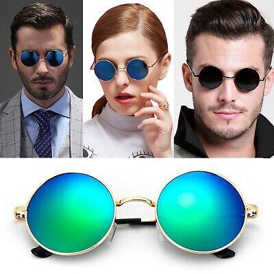 Mens Womens John Lennon Round Oval Mirrored Shades Aviator Designer (Mens Round Designer Sunglasses)