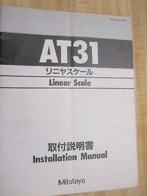 Mitutoyo 4576 Linear Scale Manual