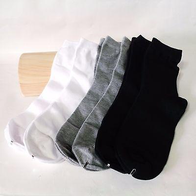 x 6 pairs Black White Gray Men