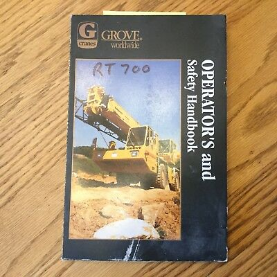 Grove Rt700 Series Operators Manual Rough Terrain Crane Operation Maint. Guide