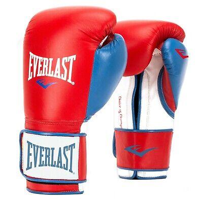 Everlast Powerlock Workout Training Boxing Gloves Size 16 Oz, Red / White & Blue