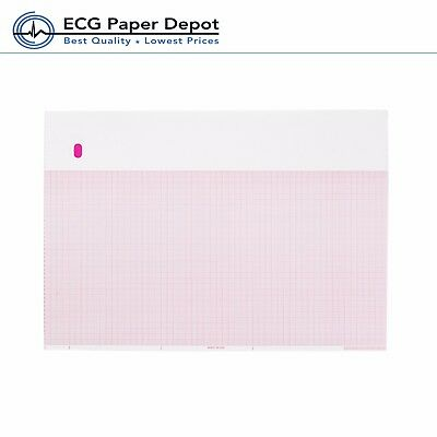 Ecg Ekg Thermal Paper 8.44 X 11 Ge Marquette 9402-024 Compatible 10 Packcase