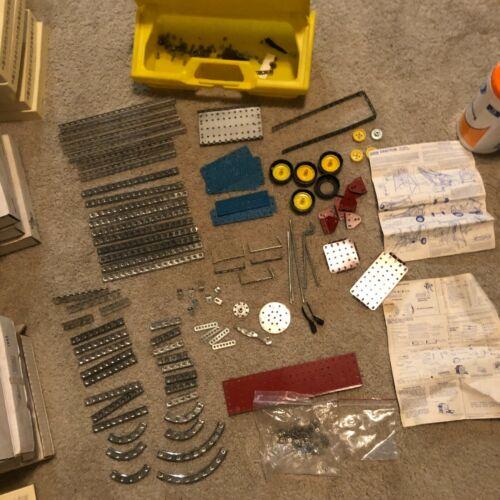 Gabriel Erector Set Parts 1970s 2 Build Plans M8453, M8456 + Tools, Storage Case