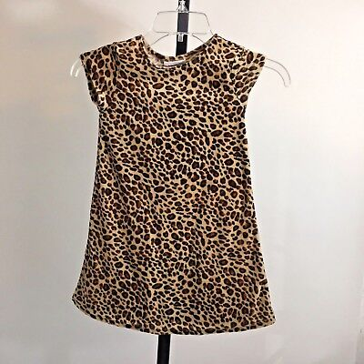 Cave Girl Caveman Halloween Costume Dress Animal Print Youngland Sz 5