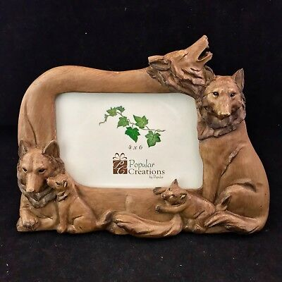 Wolf Design 4 x 6 Picture Frame By Popular (Designer Picture Frame)