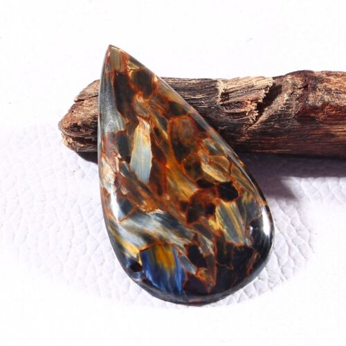 37 Carat Awesome Quality Natural Pietersite Cabochon Gemstone Loose 1 Piece Pear