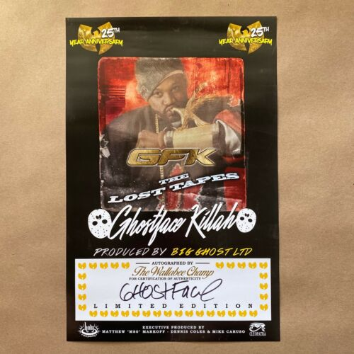 Ghostface Killah Signed The Lost Tapes Art Print Poster Wu-Tang Clan Autograph