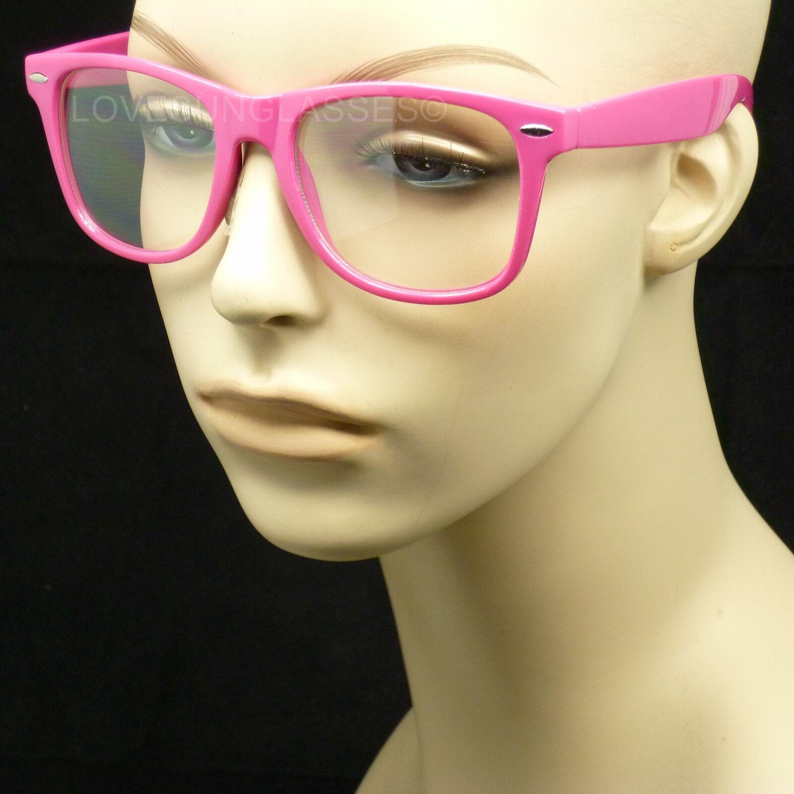 Pink frame clear lens