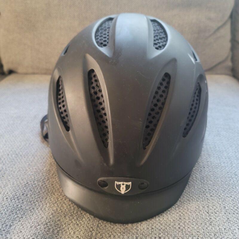 Tipperary Sportage 8500 XLarge Equestrian Sport Helmet Matte Black.