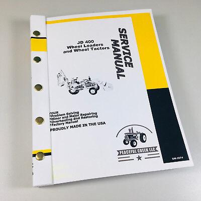Service Manual John Deere 400 Wheel Tractor Loader Backhoe Technical Repair Shop