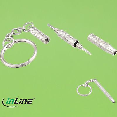 InLine® Mini Brillen-Schraubendreher-Set für den Schlüsselbund Reparatur Kit(322