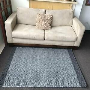 Brand New Hand Knotted Wool Flat Weave Dhurry 150*220 Grey