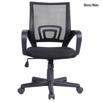 Modern Mesh Mid-Back Office Chair Computer Desk Task Ergonomic Swivel Black New